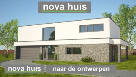 Ontwerpen van moderne kubistische woningen nova huis for Moderne laagbouw woningen